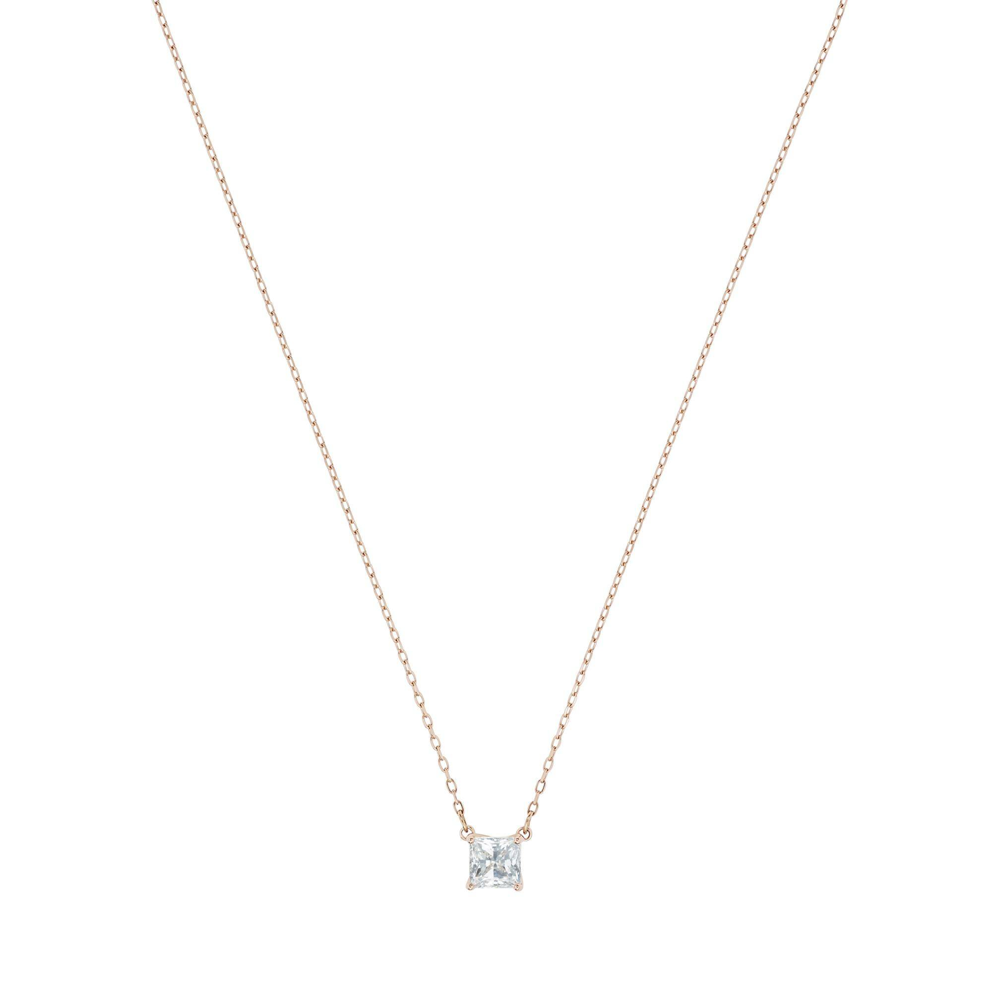 [SWAROVSKI] ATTRACT:NECKLACE SQ CZWH/ROS