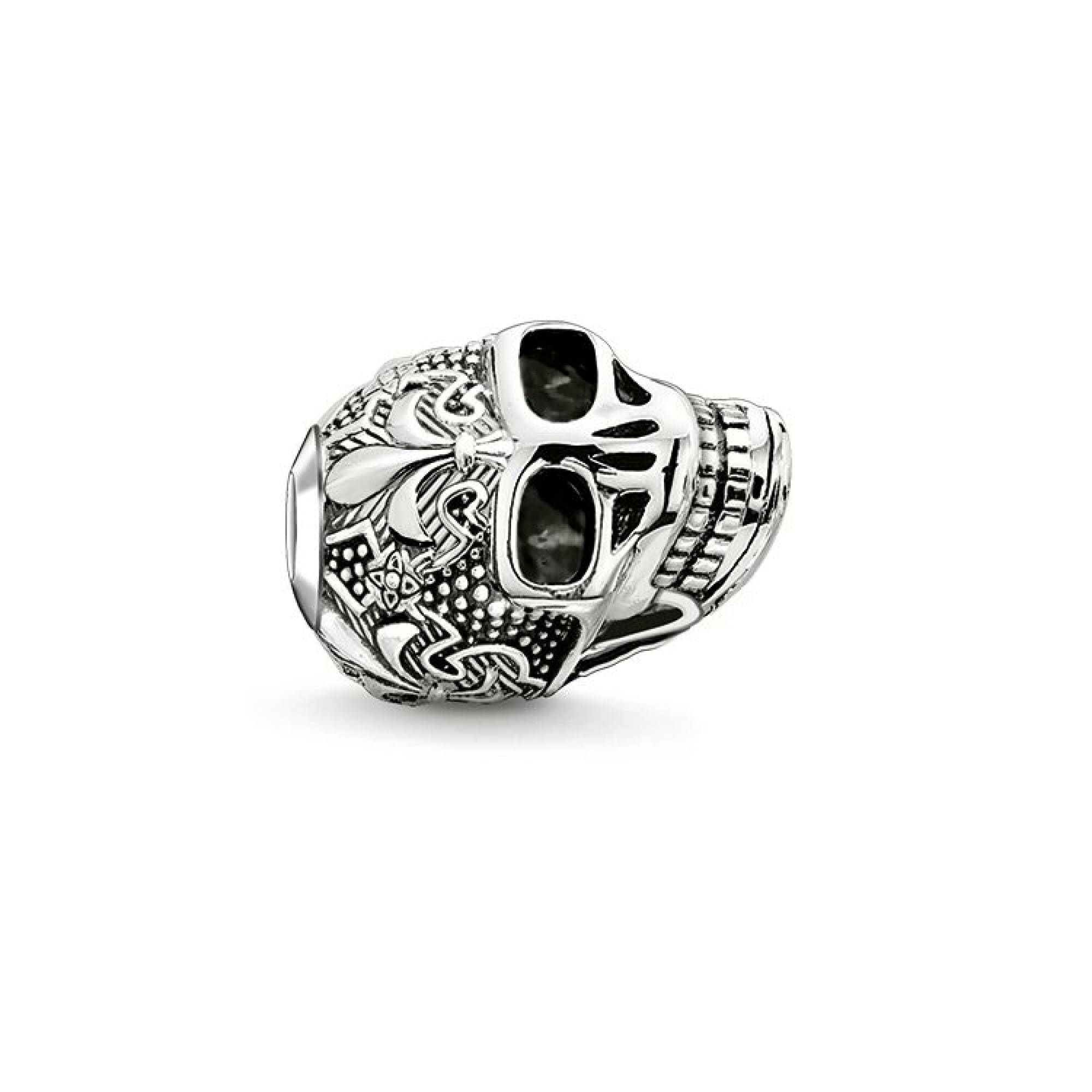 "[THOMAS SABO] BEAD ""SKULL WITH LILY"""