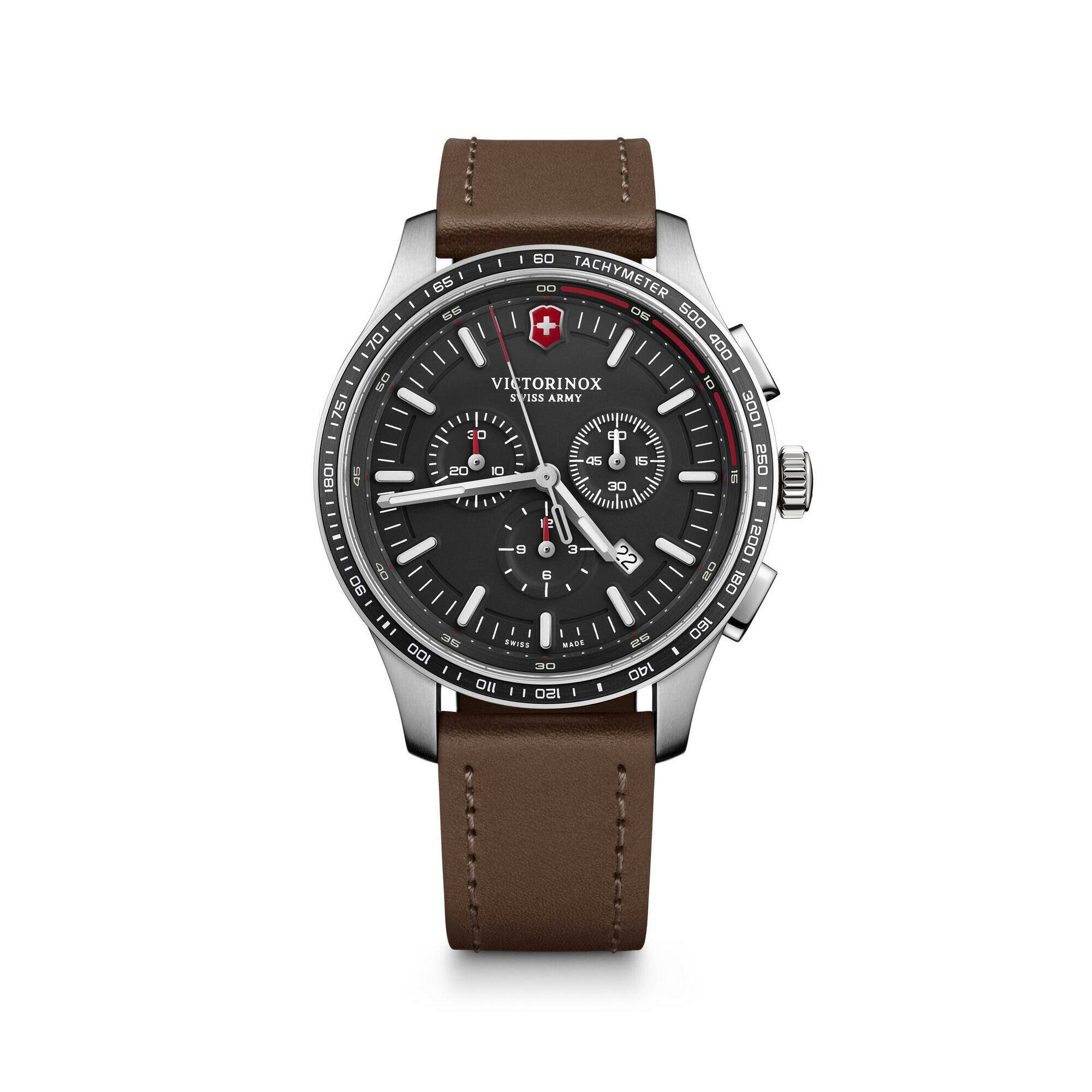 [VICTORINOX ] ALLIANCE SPORT CHRONOGRAPH BLACK DIAL BROWN