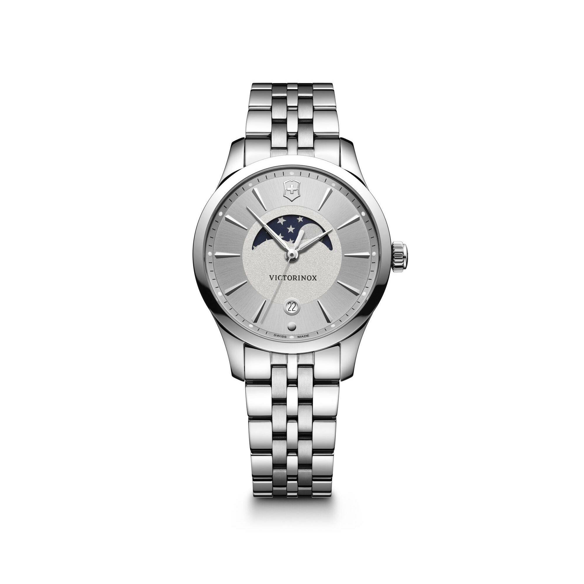 [VICTORINOX ] ALLIANCE SMALL MOON PHASE SILVER DIAL SILVER