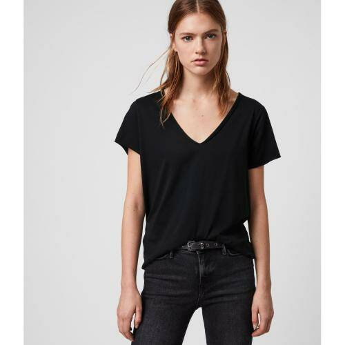 [ALL SAINTS]EMELYN TONIC TEE / Jet Black