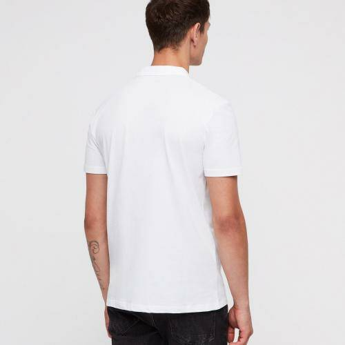 [ALL SAINTS]BRACE SS POLO / Optic White