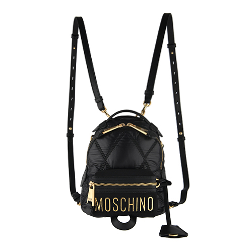 [MOSCHINO]LOGO LETTERING QUILTED BACKPACK/7606-8207-1555