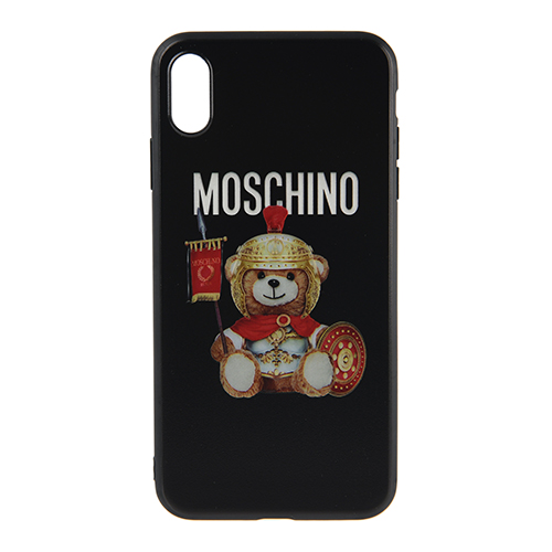 [MOSCHINO]ROMAN TEDDY BEAR COVER IN BLACK FOR IPHONE XS MAX/7932-8301-2555