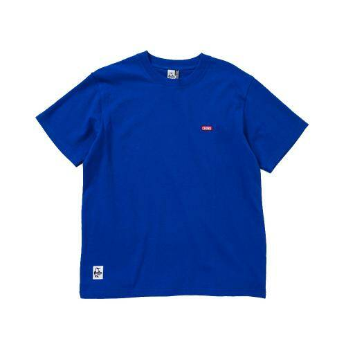 [CHUMS]Booby Logo T-Shirt / Blue Hawaii /CH01-1326-A065