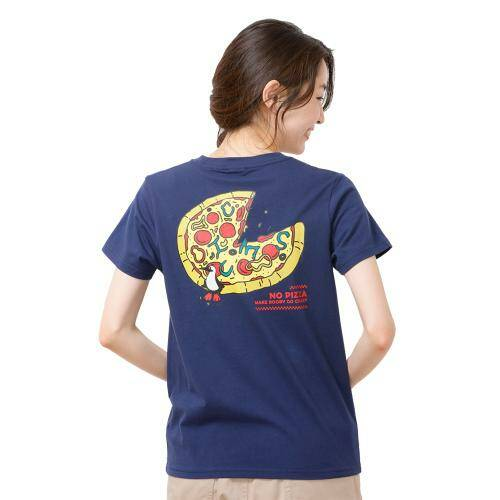 [CHUMS]Pizza T-Shirt / Navy /CH01-1500-N001