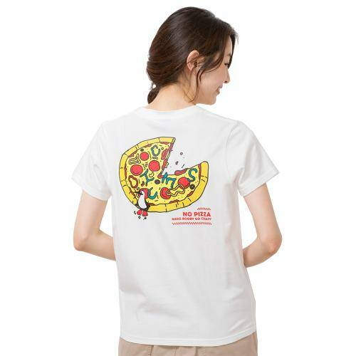 [CHUMS]Pizza T-Shirt / White /CH01-1500-W001