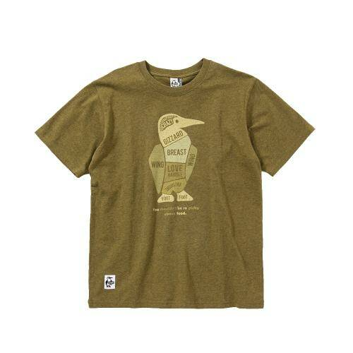 [CHUMS]Parts Of The Booby T-Shirt / H/Khaki /CH01-1506-M061