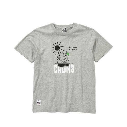 [CHUMS]YOLO T-Shirt / H/Gray /CH01-1511-G005