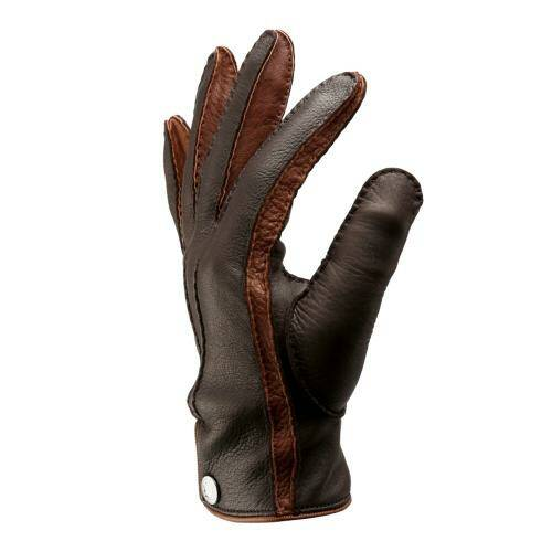 [CORNELIANI]BROWN BOTTON GLOVES