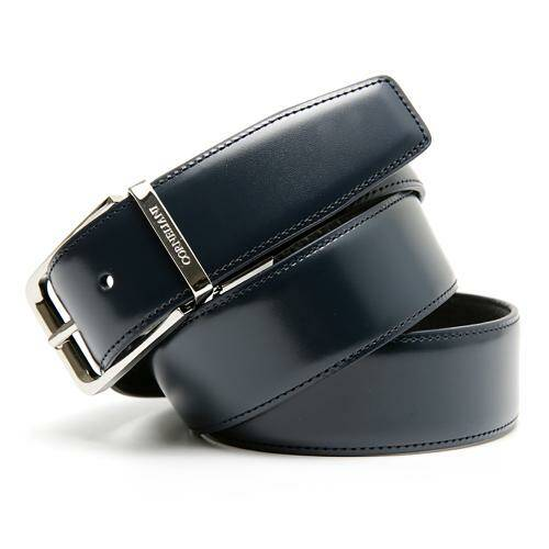 [CORNELIANI]DOUBLE FACE FORMAL BELT NAVY