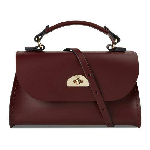 [CAMBRIDGE SATCHEL]Mini Daisy Bag in Oxblood - Split Leather with Branded PGH/DSYMI1005PGH10101
