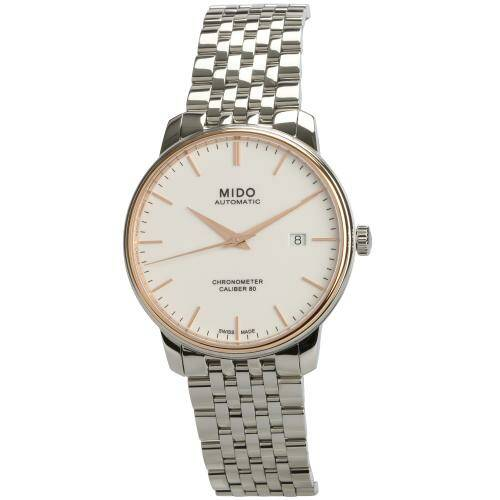 [MIDO]BARONC.III/GR/COSC/ST-RGOLD18/WHIT