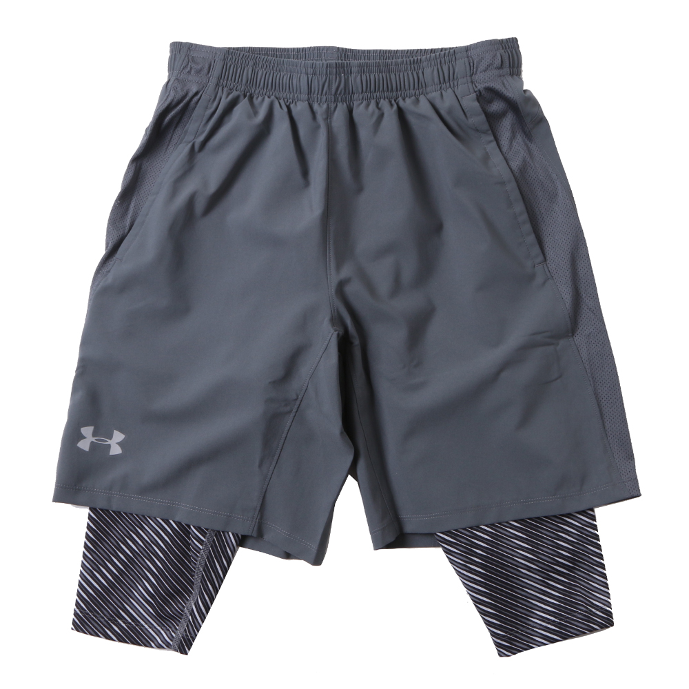 [UNDERARMOUR]M UA Launch SW Long 2-in-1 Printed Short/GRY