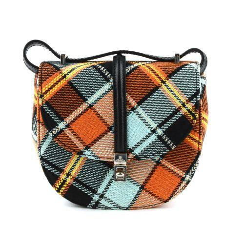 [VIVIENNE WESTWOOD] SPECIAL SOFIA MINI SADDLE BAG ORANGE/BLUE