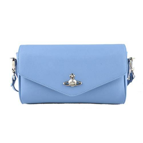 [VIVIENNE WESTWOOD] VICTORIA LARGE CROSSBODYLIGHT BLUE
