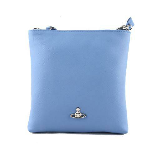 [VIVIENNE WESTWOOD] VICTORIA SQUARE CROSSBODY WITH CHAIN LIGHT BLUE