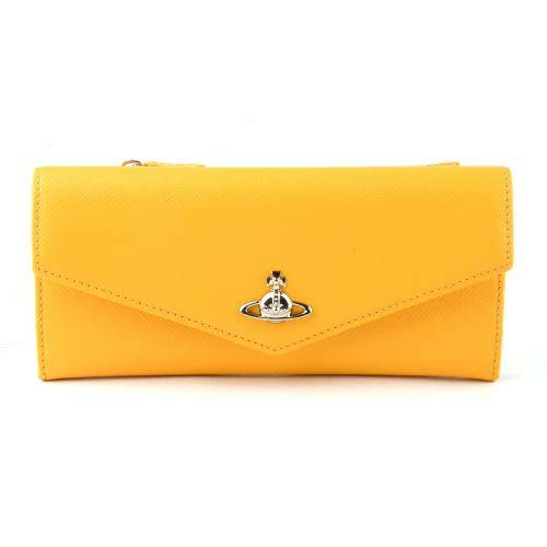 [VIVIENNE WESTWOOD] PIMLICO CREDIT CARD WALLET YELLOW